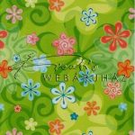 Kreatív hobby - Transzparens papír - Zöld színű retro virág