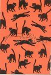 Kreatív hobby - Transzparens papír - Macska, Halloween, narancs