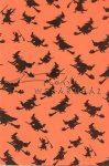 Kreatív hobby - Transzparens papír - Boszorkány, Halloween, narancs
