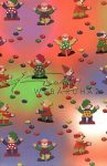 Kreatív hobby - Transzparens papír - Bohóc, piros, kék, zöld