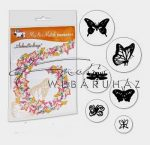 Kreatív hobby - Fanyomda - Pillangó 6 db-os