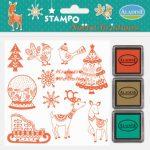 Nyomdakészlet - karácsonyi díszek 1 (3 festékpárnával)