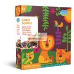 Kreatív hobby - Dzsungel alkotó készlet 5 db színes filctoll, 4 db