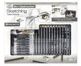Nagy művészeti oktató készlet - Portré rajzolás