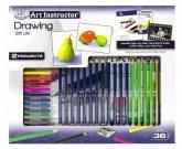 Nagy művészeti oktató készlet - Színes rajzolás - Csendélet rajzolás