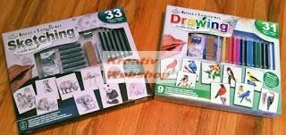 Kreatív hobby - Hobby művész - Grafikai készlet - Színes madarak + Rajzolj könnyen állatokat!