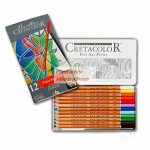 Pasztellceruza készlet fém ceruzatartóban - Cretacolor 12