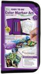 Színezős állatos ajándékkészlet gyerekeknek, nagy lila tolltartóban