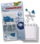 Dekor készlet - Ezüst - kék karácsony