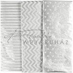Selyempapír - Mintás ezüst selyempapír, 6 ív, 17gr