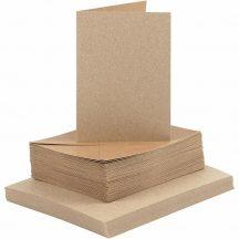 Meghívó készlet - Real Natural prémium boríték és meghívó LC6 méretben - 50 db