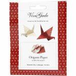 Origami papír - Koppenhága - Piros-fehér minták