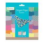Origami papír - Design papíros hajtogató készlet, 20x20cm, 60 lap - Geometrikus minták
