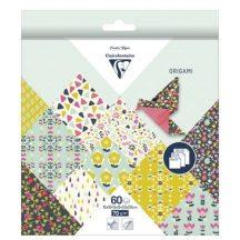 Origami papír - 60 lapos hajtogató készlet 20x20cm + 15x15cm + 10x10cm - Virágos