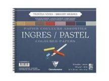 INGRES pasztell-tömb, rövid oldalán spirálozott, 8 válogatott élénk szín, elválaszólappal 130 g/m2 25 ív 36 x 48 cm