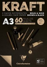 KRAFT rajztömb, fekete/barna 90 g/m2 60 ív 29,7 x 42,0 A3