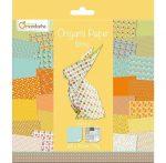 Origami papír - 60 lapos, piros mintás hajtogató készlet 20x20 cm - Tavasz