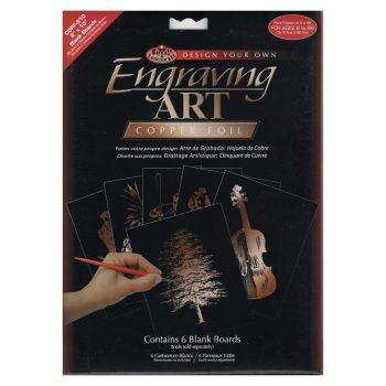 Kreatív hobby - Karcfólia, réz 6 db-os - 20x25 cm