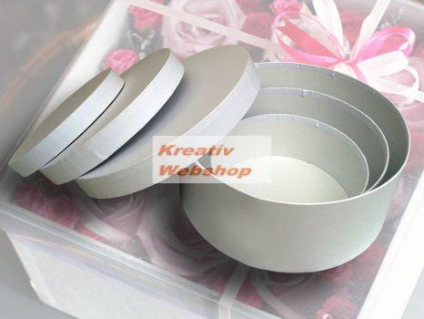 Kreatív hobby - Doboz, papírdoboz készlet, fehér, nagy, 30-25-20cm