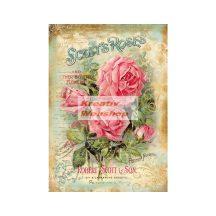 A4 Dekupázs rizspapír Scott's Roses