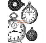 A4 Dekupázs rizspapír Black and white clocks