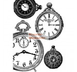 A4 Dekupázs rizspapír Black and white clocks