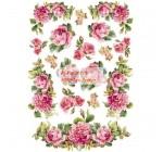 Dekupázs rizspapír A4 csom. - Roses and Garland