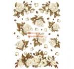 Dekupázs rizspapír A4 csom. - Winter wood Roses