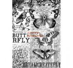 Dekupázs rizspapír A4 csom. - Butterfly