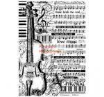 Dekupázs rizspapír A4 csomag - Kotta hegedűvel