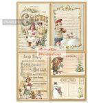 Dekupázs rizspapír A4 csomag - Karácsonyi képeslapok