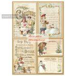 Dekupázs rizspapír A4 csom. - Karácsonyi képeslapok