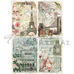 Dekupázs rizspapír A4 - Vintage képeslapok