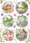 Dekupázs rizspapír A4 - Tavaszi életképek