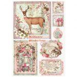 Dekupázs rizspapír A4 - Karácsonyi képeslapok