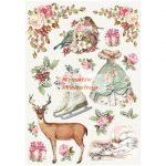 Dekupázs rizspapír A4 - Karácsonyi dekoráció