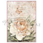 Dekupázs rizspapír A4 - Vintage rózsa és csipke