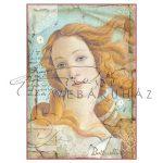 Dekupázs rizspapír A4 - Boticelli, Vénusz születése