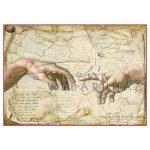 Dekupázs rizspapír A4 - Michelangelo, Az ember teremtése