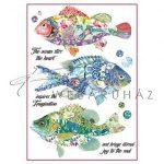 Dekupázs rizspapír A4 - Fantasztikus halak