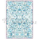 Dekupázs rizspapír A4 - Kék arabeszk