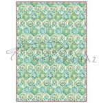 Dekupázs rizspapír A4 - Zöld arabeszk