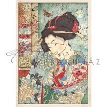 Dekupázs rizspapír A4 - Japán gésa