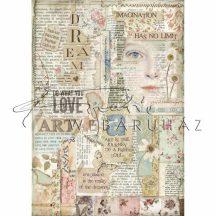 Dekupázs rizspapír A4 - Love Art