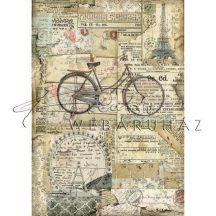 Dekupázs rizspapír A4 - Bicikli