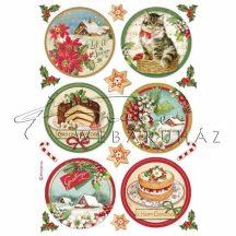 Dekupázs rizspapír A4 - Boldog Karácsonyt körminták