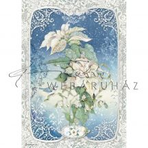 Dekupázs rizspapír A4 - Virágok Cinkével