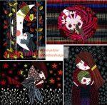 Kreatív hobby - Színes képkarcoló füzet 4 különböző színes képpel, karctűvel - Jó éjszakát!