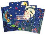 Kreatív hobby - Színes képkarcoló füzet 4 különböző színes képpel, karctűvel - 15x20 cm