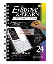 Kreatív hobby - Képkarcoló könyv, 12 különböző képpel, karctűvel - 15x20 cm - Album formátum - Ameri